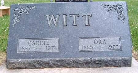 WITT, ORA - Madison County, Iowa | ORA WITT