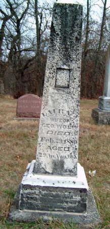 WOLF, LAURA JANE - Madison County, Iowa   LAURA JANE WOLF