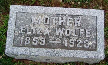 WOLFE, ELIZA VIRGINIA - Madison County, Iowa   ELIZA VIRGINIA WOLFE
