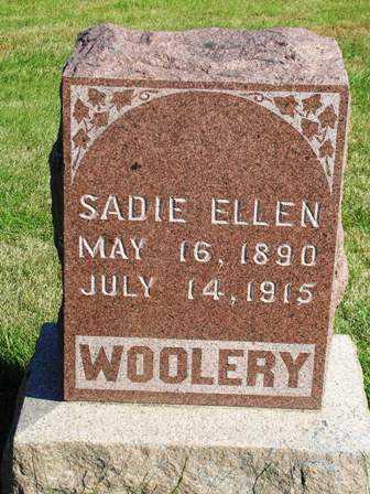 WOOLERY, SADIE ELLEN - Madison County, Iowa   SADIE ELLEN WOOLERY