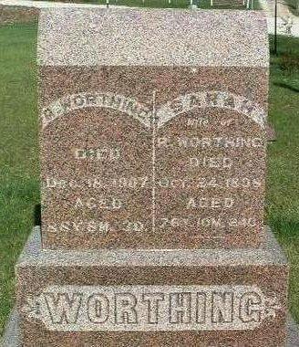 WORTHING, SARAH - Madison County, Iowa | SARAH WORTHING