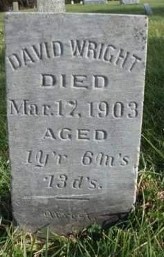 WRIGHT, DAVID - Madison County, Iowa | DAVID WRIGHT