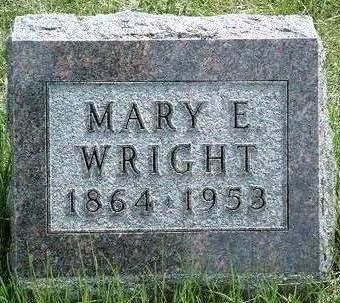 WRIGHT, MARY E. - Madison County, Iowa   MARY E. WRIGHT