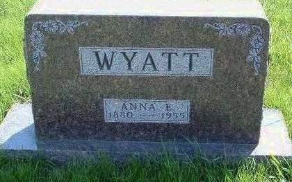 WYATT, ANNA ELIZABETH - Madison County, Iowa | ANNA ELIZABETH WYATT