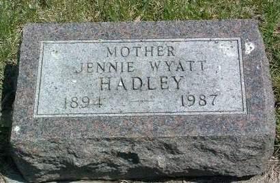 WYATT HADLEY, JENNIE L. - Madison County, Iowa | JENNIE L. WYATT HADLEY
