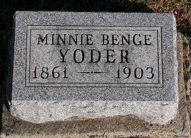 YODER, MINNIE ADELINE - Madison County, Iowa | MINNIE ADELINE YODER