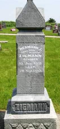ZIEMANN, HERMAN JOHANN - Madison County, Iowa | HERMAN JOHANN ZIEMANN