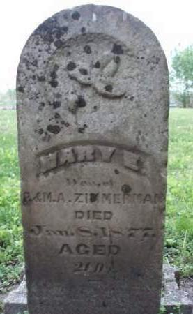 ZIMMERMAN, MARY E. - Madison County, Iowa | MARY E. ZIMMERMAN