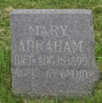 ABRAHAM, MARY - Mahaska County, Iowa   MARY ABRAHAM