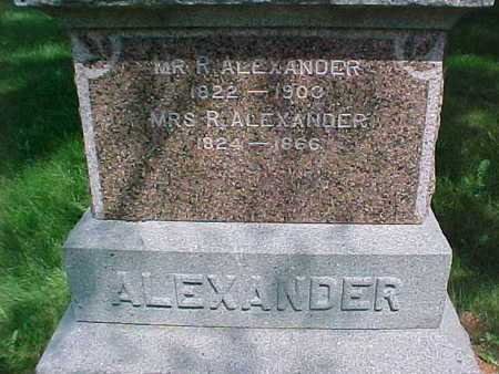 ALEXANDER, MR. R. - Mahaska County, Iowa | MR. R. ALEXANDER