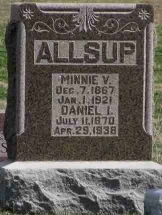 WRIGHT ALLSUP, MINNIE VASHTI - Mahaska County, Iowa | MINNIE VASHTI WRIGHT ALLSUP