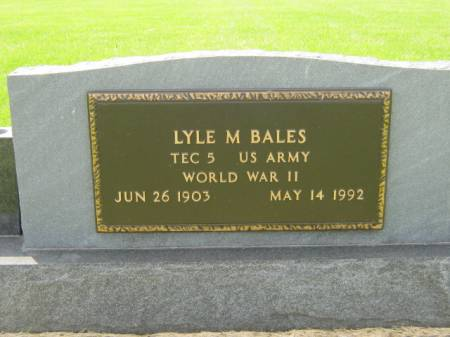 BALES, LYLE M - Mahaska County, Iowa | LYLE M BALES