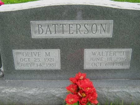 BATTERSON, WALTER J - Mahaska County, Iowa | WALTER J BATTERSON