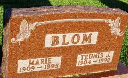BLOM, MARIE - Mahaska County, Iowa | MARIE BLOM