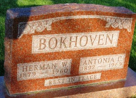 BOKHOVEN, ANTONIA C. - Mahaska County, Iowa | ANTONIA C. BOKHOVEN