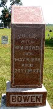 BOWEN, MOLLIE - Mahaska County, Iowa   MOLLIE BOWEN