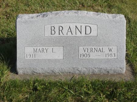 BRAND, VERNAL W. - Mahaska County, Iowa   VERNAL W. BRAND