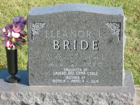 COBLE BRIDE, ELEANOR L. - Mahaska County, Iowa | ELEANOR L. COBLE BRIDE