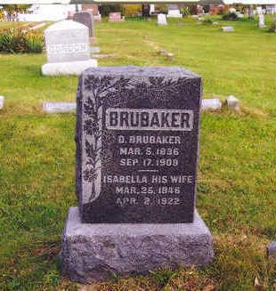 BRUBAKER, D. BRUBAKER - Mahaska County, Iowa   D. BRUBAKER BRUBAKER
