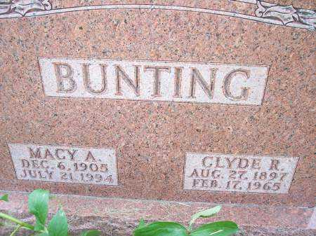 BUNTING, MACY A. - Mahaska County, Iowa | MACY A. BUNTING