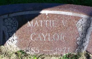 CAYLOR, MATTIE V. - Mahaska County, Iowa | MATTIE V. CAYLOR