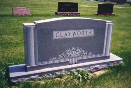 CLAYWORTH, JOHN W & NELLIE B ROCKWELL - Mahaska County, Iowa | JOHN W & NELLIE B ROCKWELL CLAYWORTH