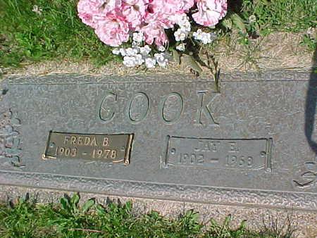 COOK, FREDA B. - Mahaska County, Iowa   FREDA B. COOK