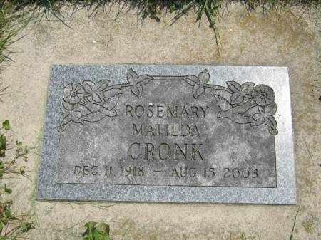 CRONK, ROSEMARY MATILDA - Mahaska County, Iowa | ROSEMARY MATILDA CRONK