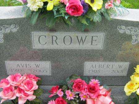 CROWE, AVIS W - Mahaska County, Iowa | AVIS W CROWE