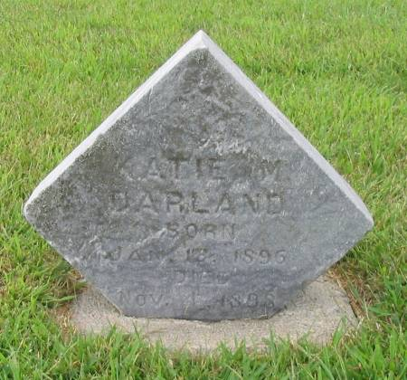 DARLAND, KATIE M. - Mahaska County, Iowa   KATIE M. DARLAND