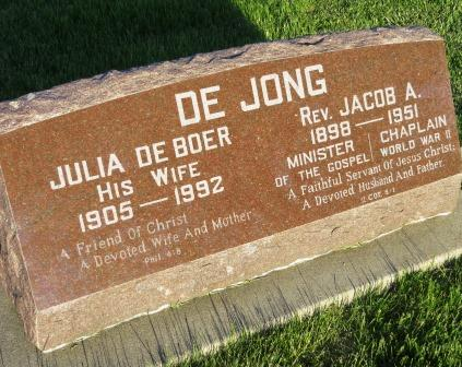 DE BOER DE JONG, JULIA - Mahaska County, Iowa | JULIA DE BOER DE JONG