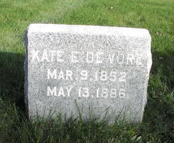 DE VORE, KATE E. - Mahaska County, Iowa | KATE E. DE VORE