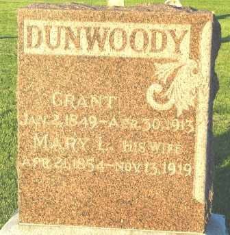DUNWOODY, MARY L. - Mahaska County, Iowa | MARY L. DUNWOODY