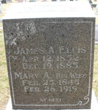 ELLIS, MARY A. - Mahaska County, Iowa   MARY A. ELLIS