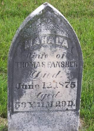 WHITE FANSHER, MAHALA - Mahaska County, Iowa | MAHALA WHITE FANSHER