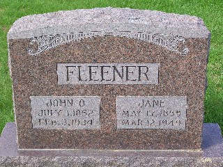 FLEENER, JANE - Mahaska County, Iowa | JANE FLEENER