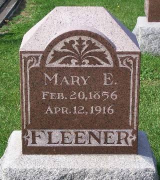 FLEENER, MARY E. - Mahaska County, Iowa | MARY E. FLEENER