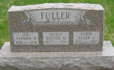 FULLER, VERNON H - Mahaska County, Iowa   VERNON H FULLER