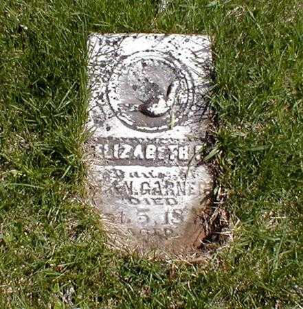 GARNER, ELIZABETH - Mahaska County, Iowa   ELIZABETH GARNER