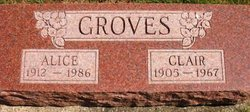 GROVES, ALICE - Mahaska County, Iowa | ALICE GROVES