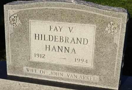 HANNA, FAY V. - Mahaska County, Iowa | FAY V. HANNA