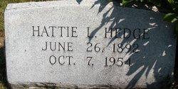 HEDGE, HATTIE L. - Mahaska County, Iowa | HATTIE L. HEDGE