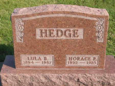 HEDGE, HORACE P. - Mahaska County, Iowa | HORACE P. HEDGE