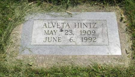 HINTZ, ALVETA - Mahaska County, Iowa | ALVETA HINTZ