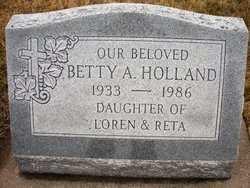 HOLLAND, BETTY A. - Mahaska County, Iowa | BETTY A. HOLLAND