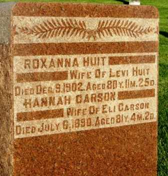 CARSON, HANNAH - Mahaska County, Iowa | HANNAH CARSON
