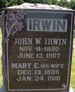 IRWIN, JOHN W. - Mahaska County, Iowa   JOHN W. IRWIN