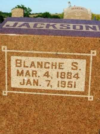 JACKSON, BLANCHE S. - Mahaska County, Iowa | BLANCHE S. JACKSON