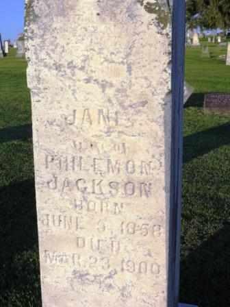 JACKSON, JANE - Mahaska County, Iowa | JANE JACKSON