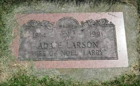 LARSON, ADA E - Mahaska County, Iowa | ADA E LARSON